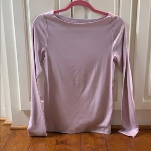 Gap NWT M boatneck long sleeve purple shirt